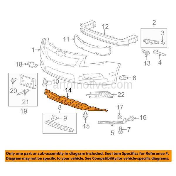 Vlc 1250f 11 16 Chevy Cruze Front Bumper Valance Air