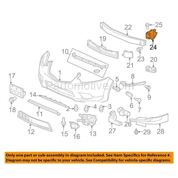 BBK-1002R For 09-14 TSX Front Bumper Face Bar Retainer