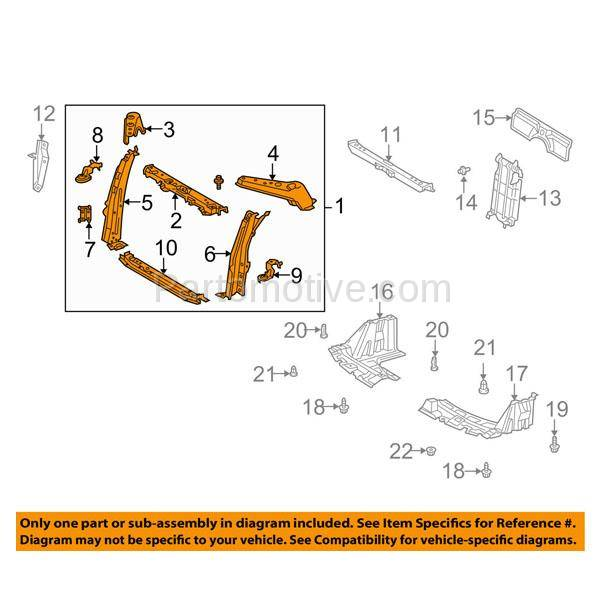 scion xd pulley diagram radiator support for 2004 2006 scion xb primed assembly  2004 2006 scion xb primed assembly