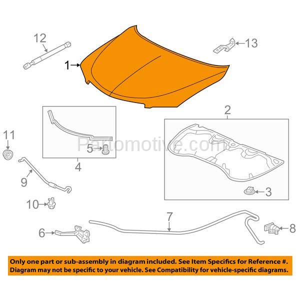 HDD-1015 2013-2018 Acura RDX 3.5L Front Hood Panel