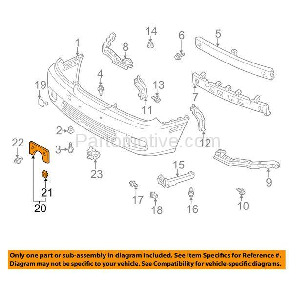 LX1068108 License Plate Bracket for 04-06 Lexus ES330 Front
