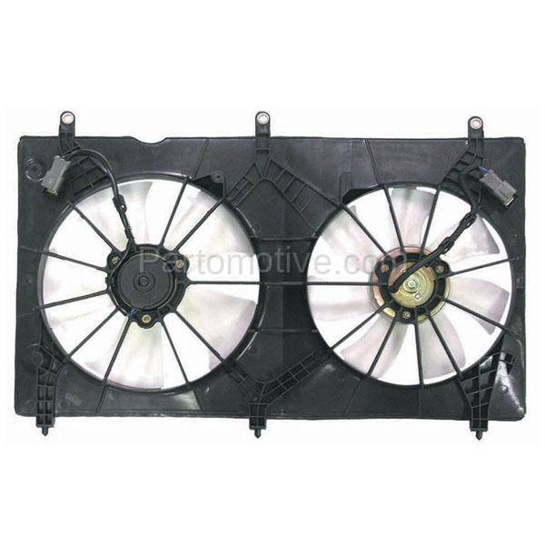 Radiator Condenser Cooling Fan Assembly For 03-07 Honda Accord EX LX DX 2.4L