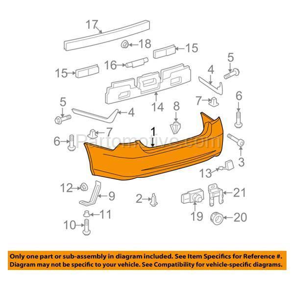 BUC-2611RC CAPA 07-12 ES-350 Rear Bumper Cover Assy W/o