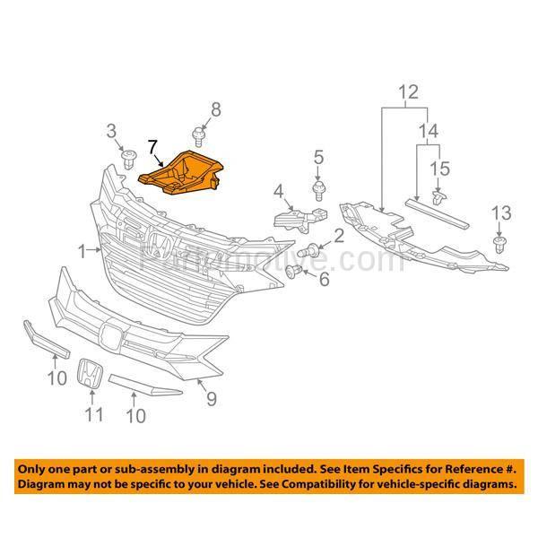 Center for Honda HR-V HO1225182 2016 to 2016 New Radiator Support