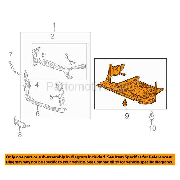 ESS-1001 10-14 TSX 4DR-Sedan Engine Lower Splash Shield