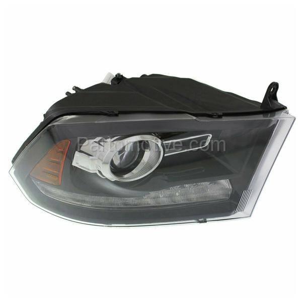 ram dodge headlight 1500 assembly 2500 side passenger truck pickup right halogen projector headlamp hlt aftermarket partomotive