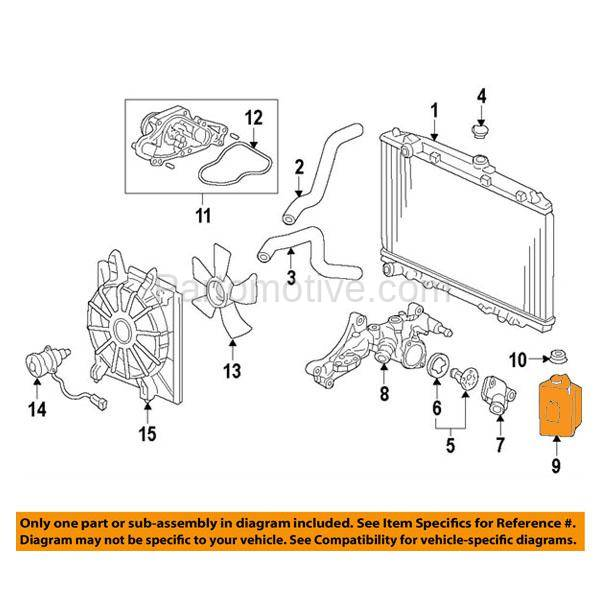 CTR-1001 05-12 RL Coolant Recovery Reservoir Overflow