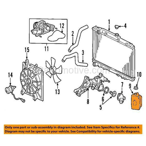 CTR-1003 03-06 MDX 06-14 Ridgeline Coolant Recovery