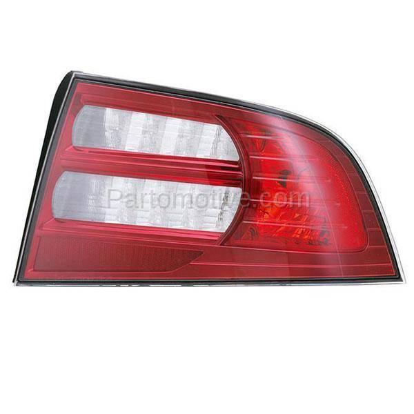 TLT-1353R 07-08 Acura TL Base Taillight Taillamp Brake