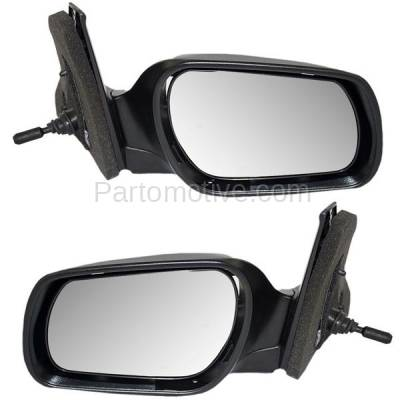 Fits Toyota Prius 04-09 Set of Side View Power Mirrors Glass w// Housing