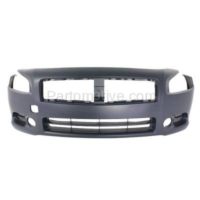 Aftermarket Replacement - BUC-2993F Fits 09-14 Maxima Front Bumper Cover Facial Assembly Primed NI1000258 620229N00H