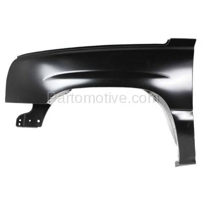 Aftermarket Replacement - FDR-1686L 03-07 Silverado Truck Front Fender Quarter Panel Driver Side Old Body GM1240305