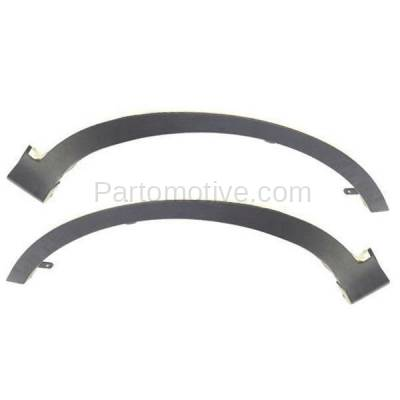 Rear Front Section Set Of 2 LH And RH Side Black Wheel Opening Molding Fits RAV4