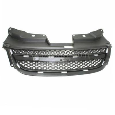 Bumper Grille For 2013-2016 Chevrolet Trax Textured Gray Plastic