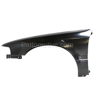 Aftermarket Replacement - FDR-1069L 1990-1993 Honda Accord (Coupe, Sedan, Wagon) Front Fender Quarter Panel (with Molding Holes) Primed Steel Left Driver Side