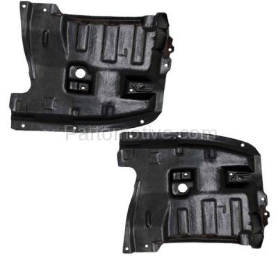 Aftermarket Replacement - ESS-1542L & ESS-1542R Front Engine Splash Shield Under Cover For 95-99 Maxima Left Right Side SET PAIR