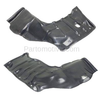 Aftermarket Replacement - ESS-1583L & ESS-1583R 88-92 Corolla Engine Splash Shield Under Cover w/Auto Trans. Left Right SET PAIR