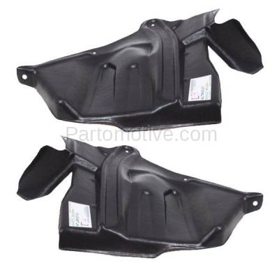 Aftermarket Replacement - ESS-1545L & ESS-1545R Front Engine Splash Shield Under Cover For 93-01 Altima Left Right Side SET PAIR