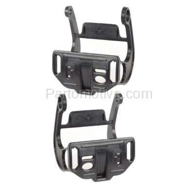 Aftermarket Replacement - BRT-1007FL & BRT-1007FR 11-13 5-Series (without M Package) Front Bumper Retainer Mounting Brace Reinforcement Support Black Plastic SET PAIR Left Driver & Right Passenger Side