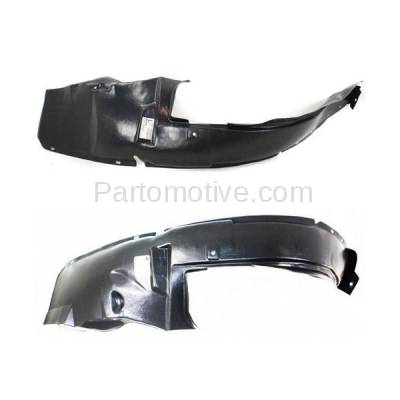 Aftermarket Replacement - IFD-1165L & IFD-1165R 02-04 Neon Front Splash Shield Inner Fender Liner Panel Left Right Side SET PAIR