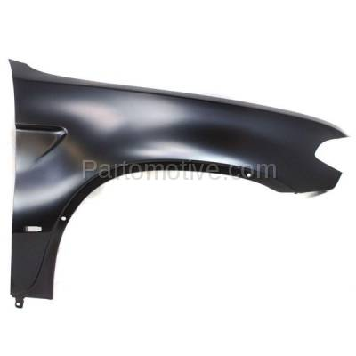 Aftermarket Replacement - FDR-1818R 2004-2006 BMW X5 (3.0i, 4.4i, 4.8is) Front Fender Quarter Panel with Side Marker Lamp Hole Primed Steel Right Passenger Side