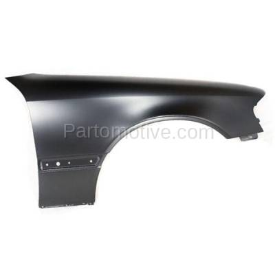 Aftermarket Replacement - FDR-1110R 1994-2000 Mercedes Benz C-Class (Sedan 4-Door) Front Fender Quarter Panel (with Molding Holes) Steel Right Passenger Side