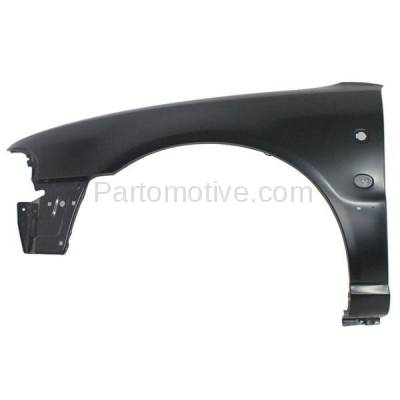 Aftermarket Replacement - FDR-1041L 1996-1997 Audi A4 & A4 Quattro Front Fender Quarter Panel (with Emblem Provision) with Turn Signal Light Hole Left Driver Side