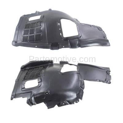 Aftermarket Replacement - IFD-1065L & IFD-1065R 10-17 5-Series Front Upper Splash Shield Inner Fender Liner Left Right SET PAIR