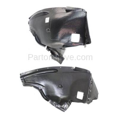 Aftermarket Replacement - IFD-1085L & IFD-1085R 07-08 X5 Front Splash Shield Inner Fender Liner Panel Left & Right Side SET PAIR