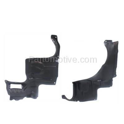 Aftermarket Replacement - ESS-1416L & ESS-1416R 00-01 MPV Front Fender Engine Splash Shield Under Cover Left Right Side SET PAIR