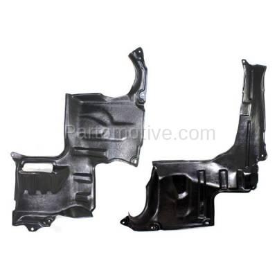 Aftermarket Replacement - ESS-1420L & ESS-1420R 02-06 MPV Van Engine Splash Shield Under Cover Undercar Left Right Side SET PAIR