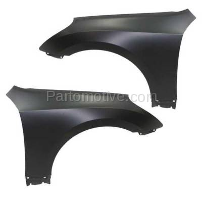 Aftermarket Replacement - FDR-1252LC & FDR-1252RC CAPA Front Fender Quarter Panel For 11-16 Equus Left Right Side SET PAIR