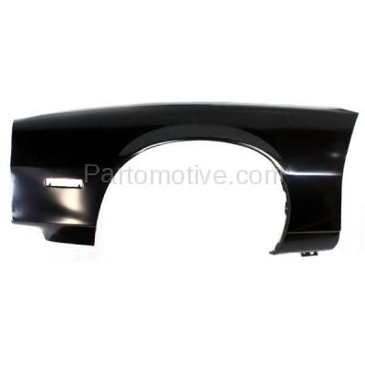 Aftermarket Replacement - FDR-1121L 1982-1992 Chevrolet Camaro Front Fender Quarter Panel with Molding Holes (without Holes for Body Cladding) Steel Left Driver Side