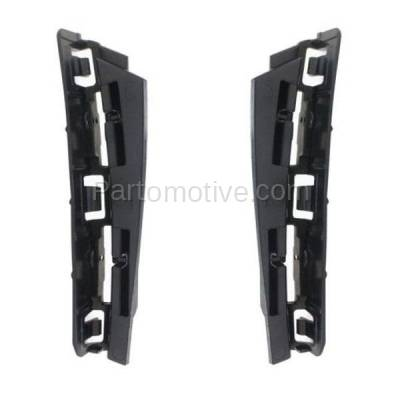 Aftermarket Replacement - BRT-1107RL & BRT-1107RR 2015-2018 Mercedes C63 AMG Rear Bumper Cover Outer Retainer Mounting Brace Reinforcement Support Bracket SET PAIR Right & Left Side