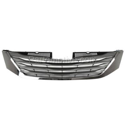 Aftermarket Replacement - GRL-2544C CAPA 11-14 Sienna Front Grill Grille Chrome Shell/Frame TO1200333 5310108090