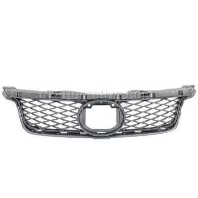 Aftermarket Replacement - GRL-2045C CAPA 11-13 CT-200h Front Grill Grille Gray Mesh Insert LX1200143 5311176030