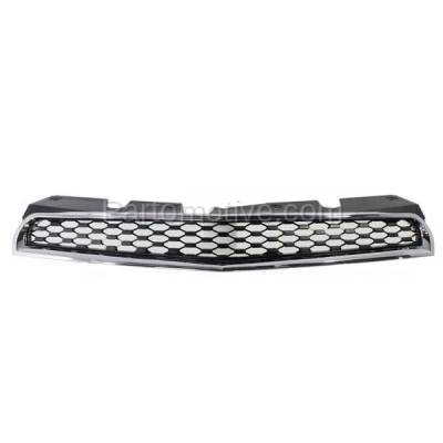 Aftermarket Replacement - GRL-1760C CAPA 10-15 Equinox Front Grill Grille Black Chrome Frame GM1200622 25798744