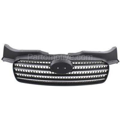 Aftermarket Replacement - GRL-1903C CAPA Front Face Bar Grill Grille HY1200143 863601E011 For 06-11 Accent Sedan