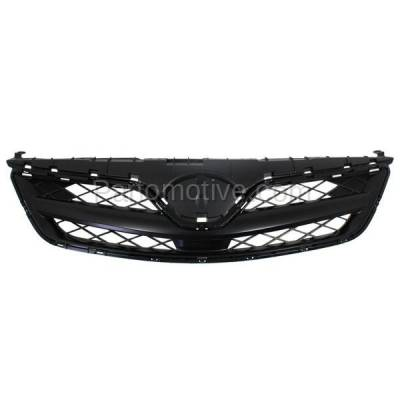 Aftermarket Replacement - GRL-2551C CAPA 11 12 13 Corolla Sedan Front Grill Grille Black TO1200340 5310002410C0