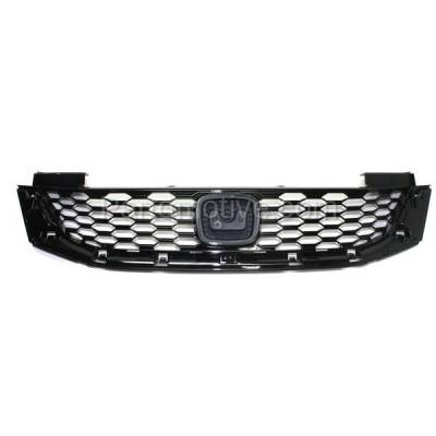 Aftermarket Replacement - GRL-1870C CAPA 13 14 15 Accord Coupe Front Face Bar Grill Grille HO1200217 71121T3LA01