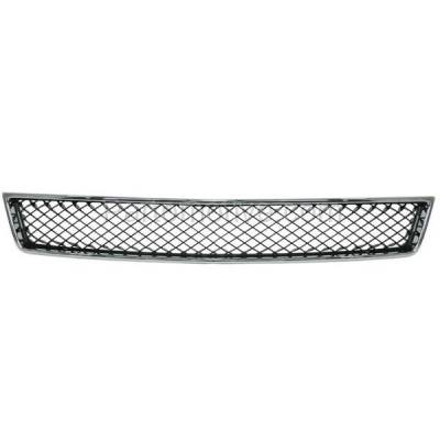 Aftermarket Replacement - GRL-1711C CAPA Chevy Tahoe Lower Grill Grille Chrome Frame Black Mesh Insert 15835084