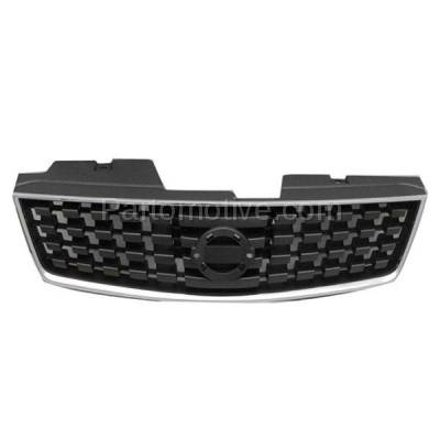 Aftermarket Replacement - GRL-2269C CAPA Front Grill Grille NI1200222 62070ET000 Fits 07 08 09 Sentra 2.0L Base