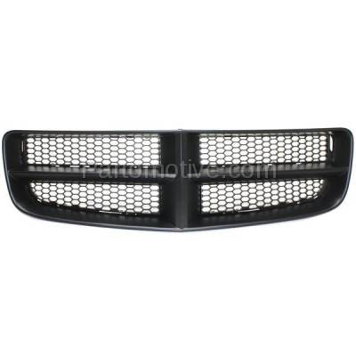 Aftermarket Replacement - GRL-1346C CAPA 06-10 Charger Front Grill Grille Black Shell Frame CH1200376 68148158AA