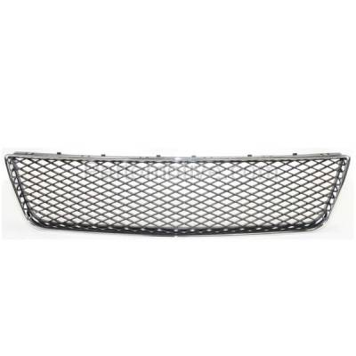 Aftermarket Replacement - GRL-1516C CAPA Chevy Impala Lower Bumper Grill Grille Chrome Frame GM1036107 10333712