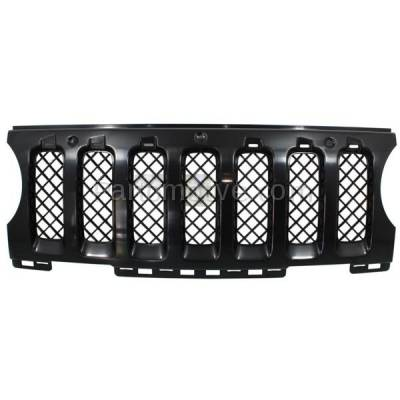 Aftermarket Replacement - GRL-1354C CAPA NEW 11-15 Patriot Front Grill Grille Insert Black CH1210110 68091527AA