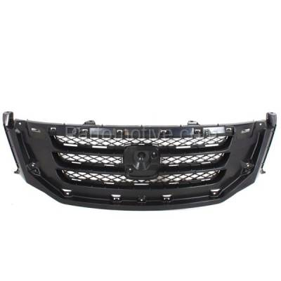 Aftermarket Replacement - GRL-1848C CAPA 08-10 Odyssey Front Face Bar Grill Grille Black HO1200190 71121SHJA02