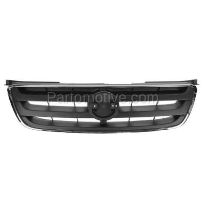 Aftermarket Replacement - GRL-2252C CAPA Front Grill Grille Chrome/Gray NI1200197 620708J100 For 02 03 04 Altima