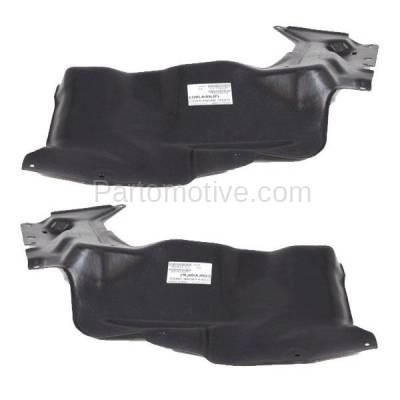 Aftermarket Replacement - ESS-1626L & ESS-1626R 09-13 Corolla Engine Splash Shield Under Cover Japan Built Left & Right SET PAIR