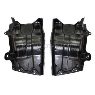 Aftermarket Replacement - ESS-1525L & ESS-1525R Front Engine Splash Shield Under Cover For 04-09 Quest Van Left & Right SET PAIR