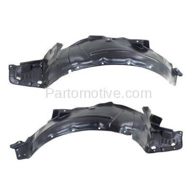 Aftermarket Replacement - IFD-1015L & IFD-1015R 04-05 TSX Front Splash Shield Inner Fender Liner Panel Left Right Side SET PAIR